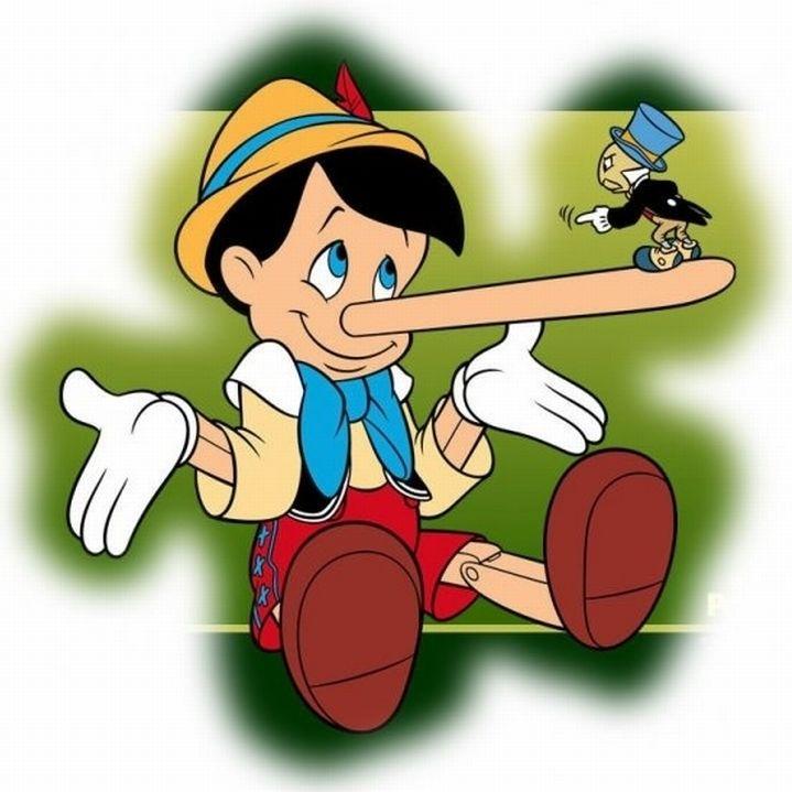 afbeelding van Pinocchio. Deze dia wordt gebruikt in de lezing over het autisme-programma om het ontstaan van het programma uit te leggen.